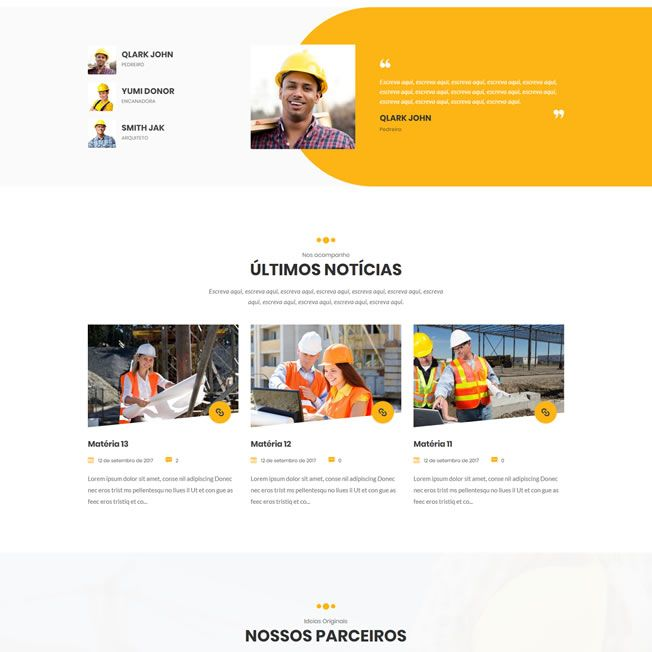 Criar Site Construtora WordPress Responsivo Português 1000