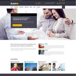 Criar Site Construtora WordPress Responsivo Português 1001
