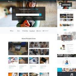 Criar Site Cursos Escola WordPress Responsivo Português 1018 v2