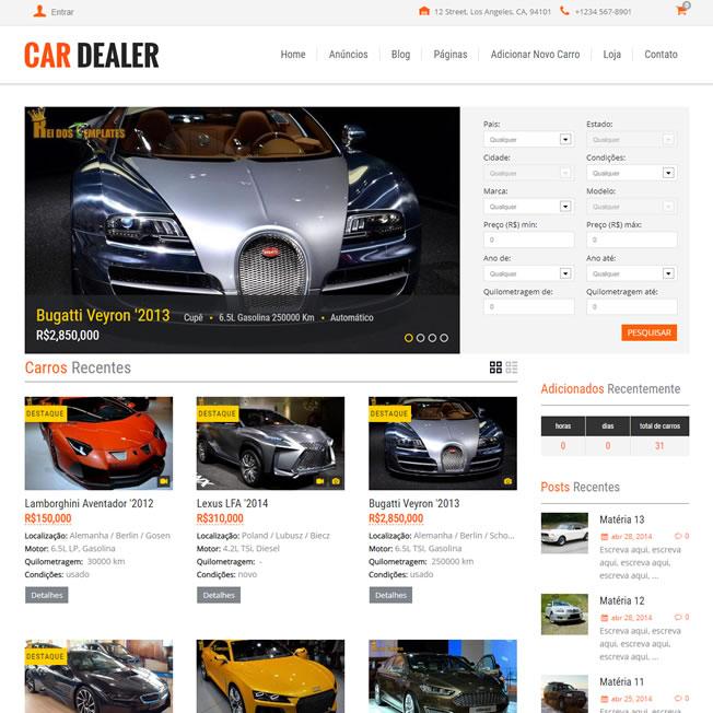 Site Loja Carros WordPress