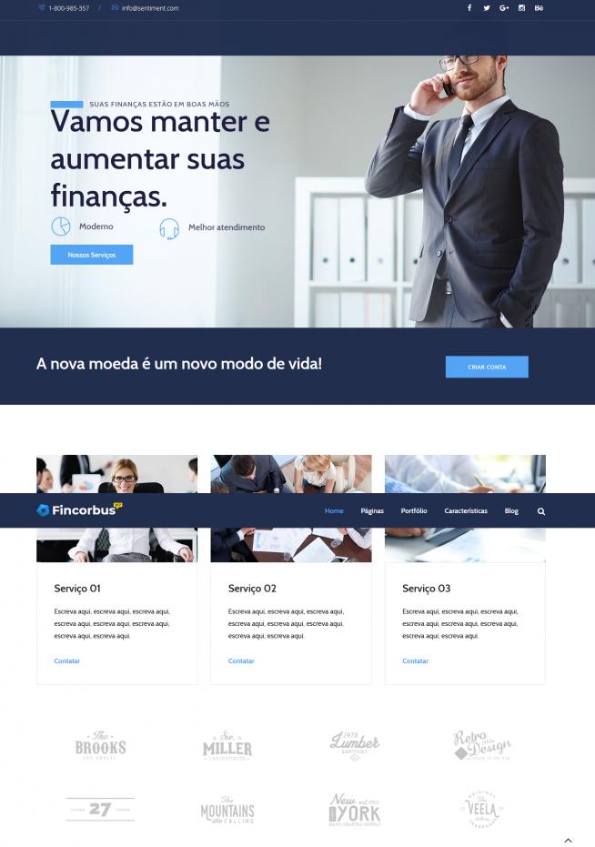 Criar Site Empresa Consultoria WordPress Responsivo Português 1027
