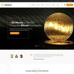 Criar Site Bitcoin Criptomoeda WordPress Responsivo 1045