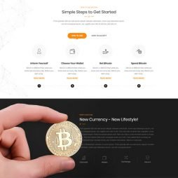 Criar Site Bitcoin Criptomoeda WordPress Responsivo 1045 V2