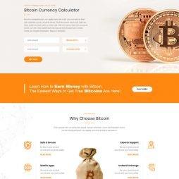 Criar Site Bitcoin Criptomoeda WordPress Responsivo 1045 V3