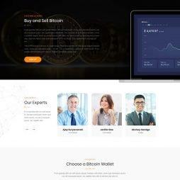Criar Site Bitcoin Criptomoeda WordPress Responsivo 1045 V4