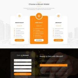 Criar Site Bitcoin Criptomoeda WordPress Responsivo 1045 V5