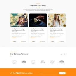 Criar Site Bitcoin Criptomoeda WordPress Responsivo 1045 V6