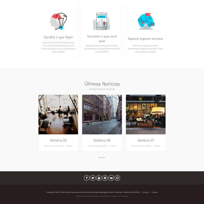 Criar Site Guia Comercial WordPress Responsivo Português 1051 S