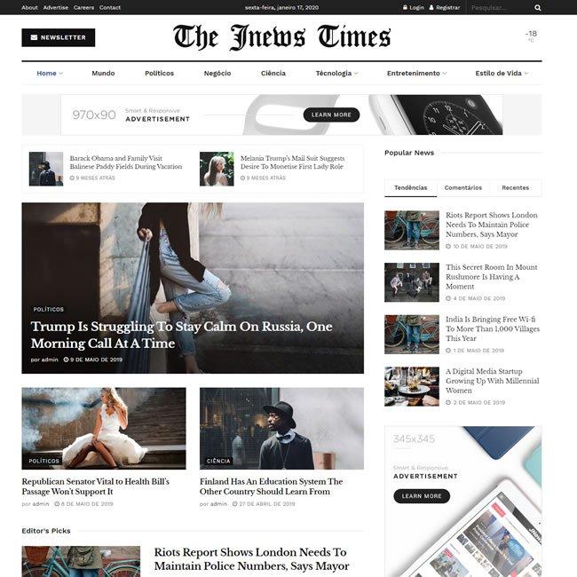 Criar Site Notícias WordPress Responsivo 1042 S v1