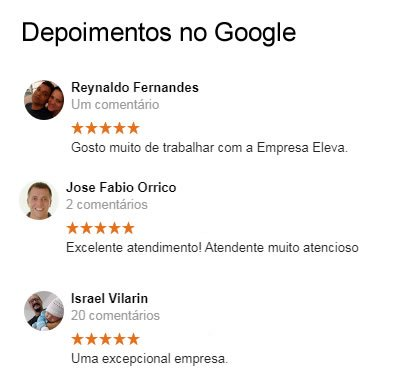 Depoimentos do Google