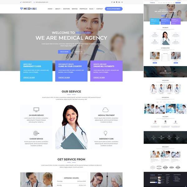 Template Clinica Médico Dentista WordPress Responsivo 1024 S v2