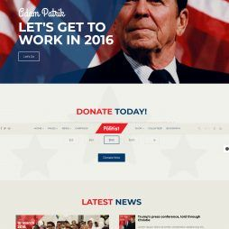 Criar Site Política Eleição Joomla Responsivo 1060
