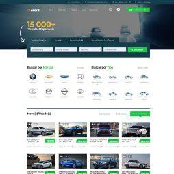 Criar Site Automóveis WordPress Responsivo Português 1076 v1