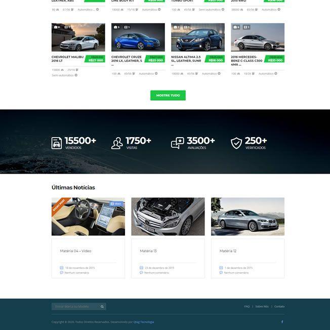 Criar Site Automóveis WordPress Responsivo Português 1076 S