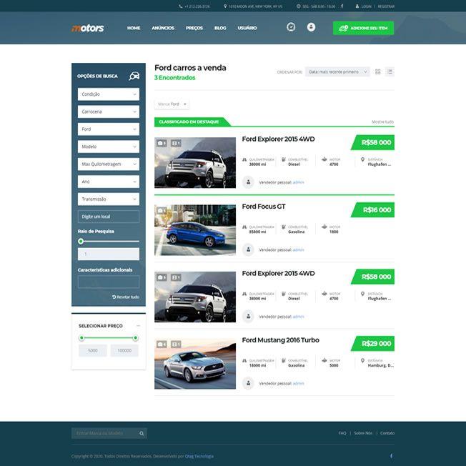 Criar Site Automóveis WordPress Responsivo Português 1076 v3
