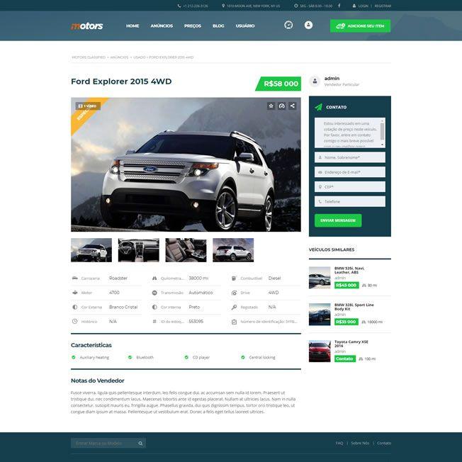 Criar Site Automóveis WordPress Responsivo Português 1076 v4