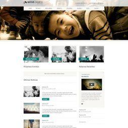Criar Site Igreja WordPress Responsivo Português 1080 v1