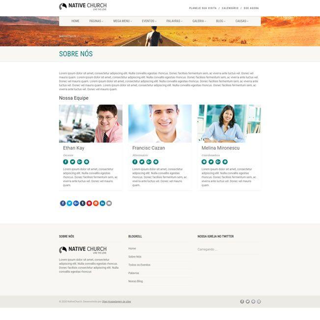 Criar Site Igreja WordPress Responsivo Português 1080 S