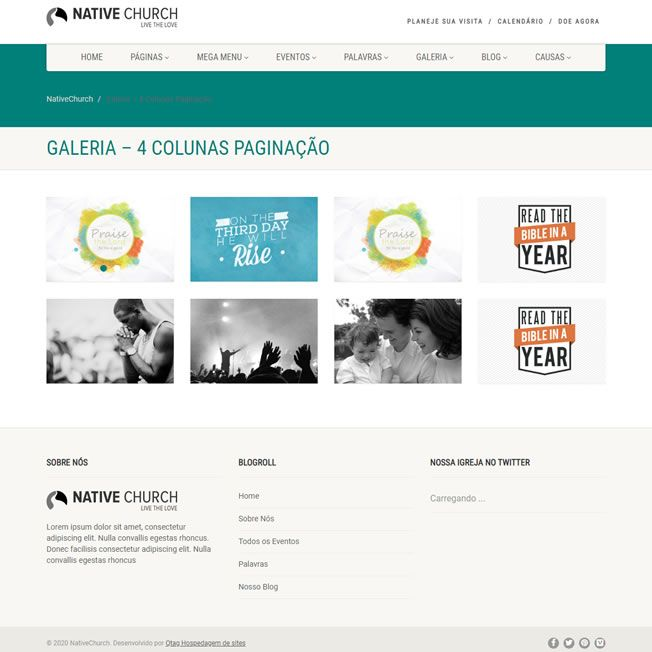 Criar Site Igreja WordPress Responsivo Português 1080 v5