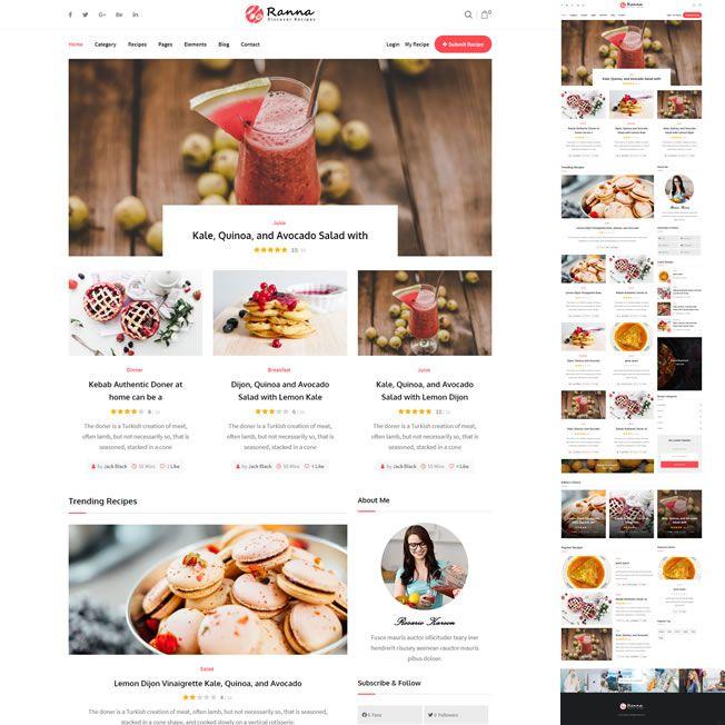 Criar Site Blog Receitas