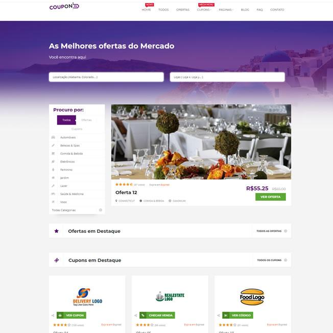 Criar Site Cupom de Desconto WordPress Responsivo Português 1009