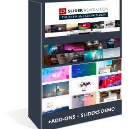 Slider Revolution Wordpress Plugin + Add-ons + Pack Layouts 1108