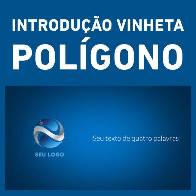 Intro Logo - Introdução Vinheta - Polígono Abstract Polygon