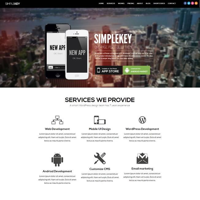 Criar Site Agência Empresa WordPress Uma Página 1187 S