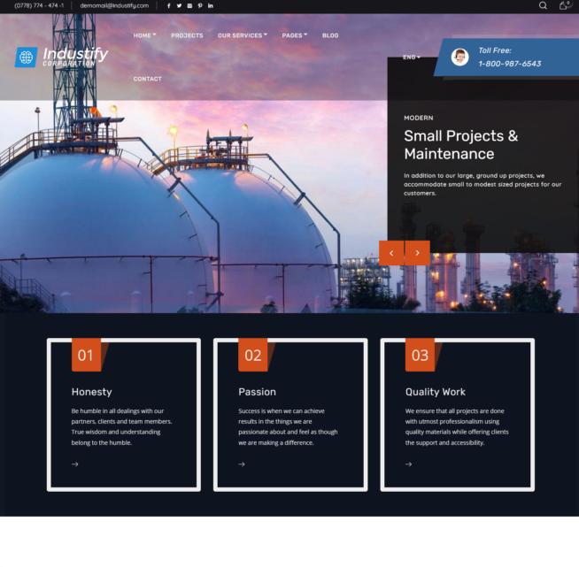 Criar Site Empresa Indústria