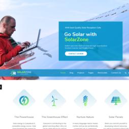 Criar Site Energia Solar WordPress
