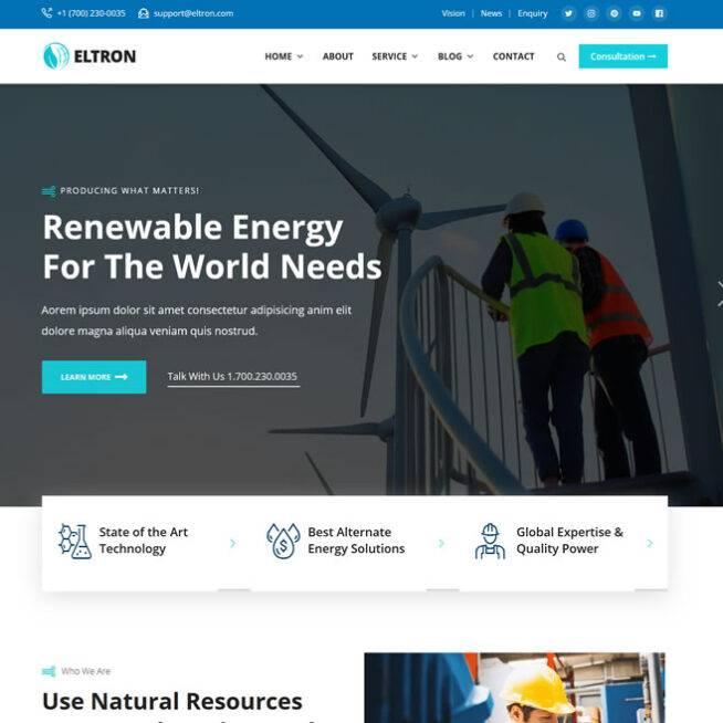Criar Site Energia Solar WordPress Responsivo 1241 S v2