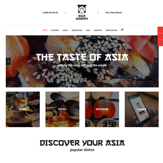 Criar Site Comida Japonesa