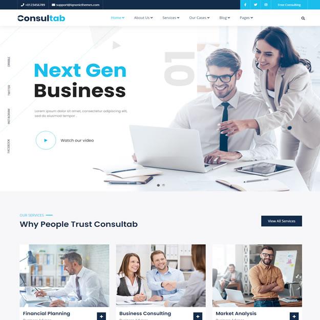Criar Site Empresa Consultoria
