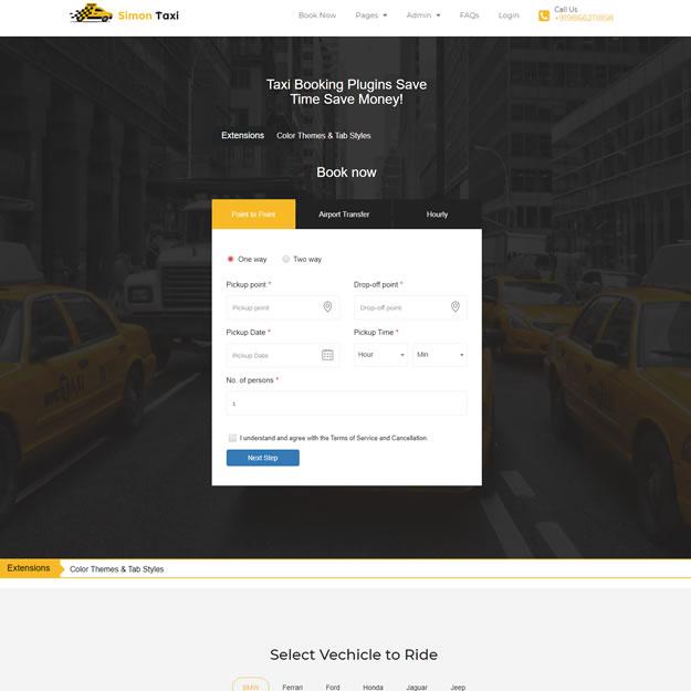 Criar Site Táxi