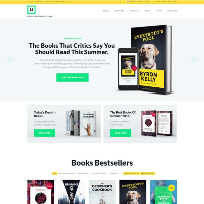 Criar Loja Virtual Ebook Livros Wordpress Responsivo 1279 S