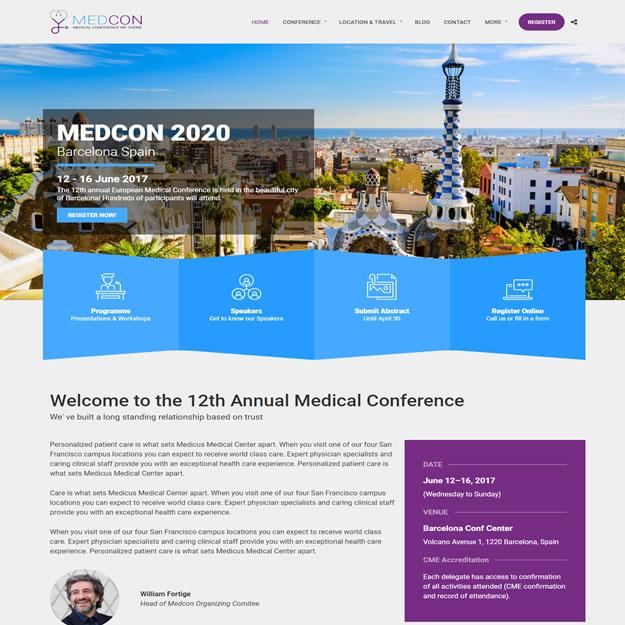 Criar Site Conferência Médica