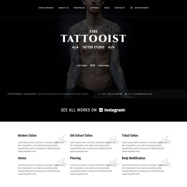 Criar Site Tatuagem Tatoo