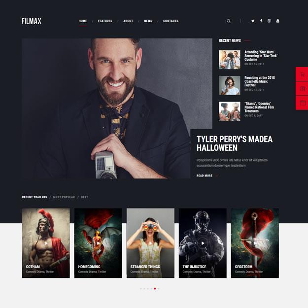 Criar Site Filmes Notícias