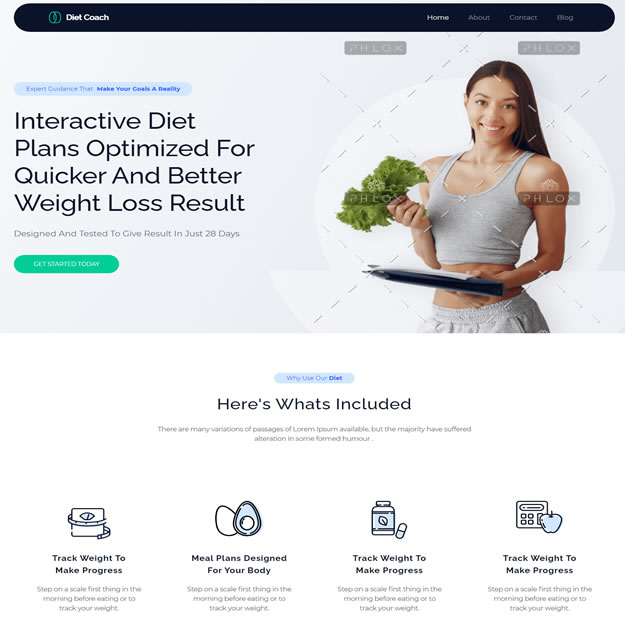 Criar Site Nutricionista Dieta