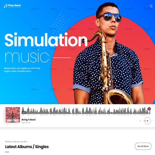Criar Site Banda Músico