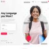 Criar Site Escola Linguas WordPress Responsivo 1371 S