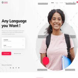 Criar Site Escola Línguas