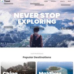 Criar Site Turismo Viagens