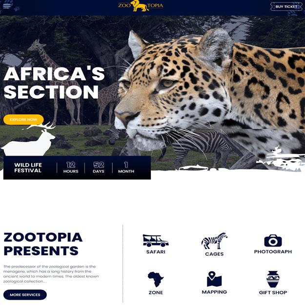 Criar Site Animais Zoológico