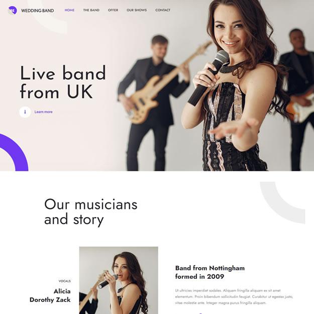 Criar Site Banda Música