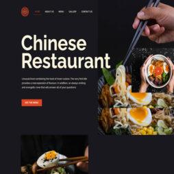 Criar Site Restaurante Chinês