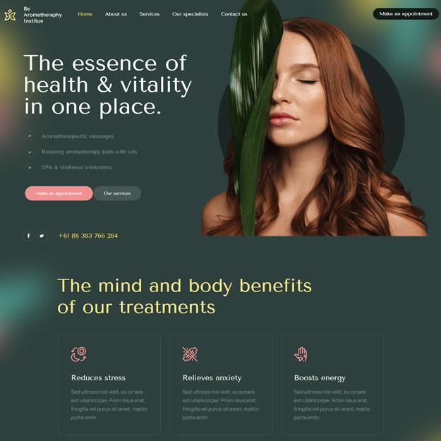 Criar Site Massoterapia Aromaterapia