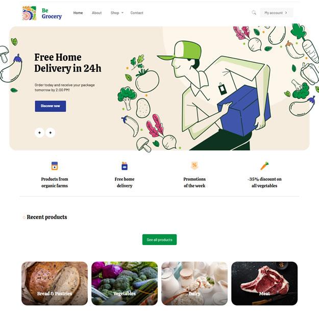 Criar Site Supermercado