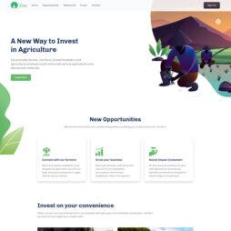 Modelo de Site Pronto Agricultura HTML 1343 S