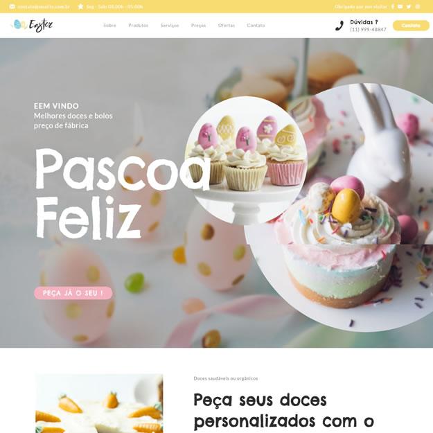 Criar Site Confeitaria Wordpress
